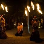 Spectacle de feu à Provins 2012