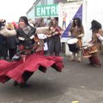 Marché de l'Histoire - Danse tribale pour les gens qui attendaient l'ouverture !